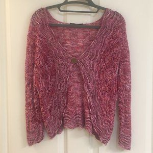 NWOT NIC + ZOE shrug with button, size PL